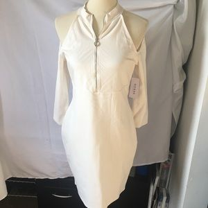 Guess Cream Cold Shoulder Sexy Dress - NEW